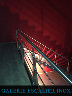 ESCALIER INOX - STAINLESS STEEL STAIRS